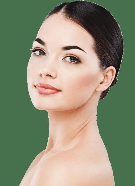 Botoks uygulaması yapılarak dudakları kalınlaştırılmış genç kadın